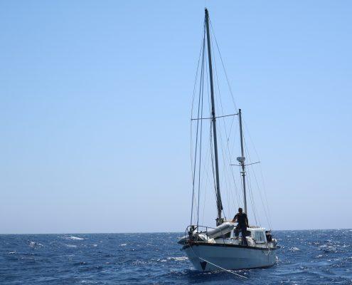 Kaskazi Four_salvataggio naufrago Gibilterra_ketch