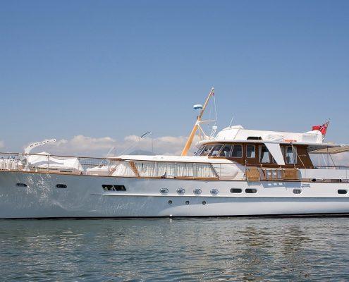Corbina yacht, by de vries, 22.50m