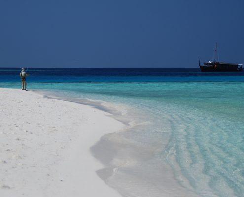 Le Maldive in barca
