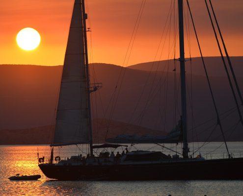 Settimana in barca a vela tramonrto