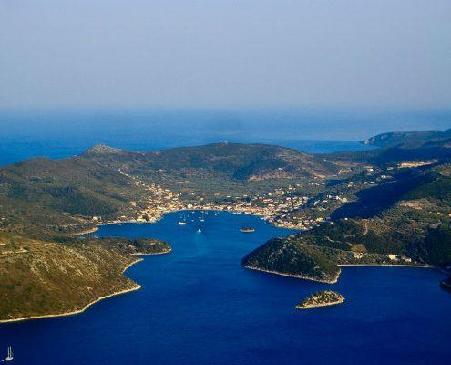 Crociera in barca a vela in Grecia itaca aerea