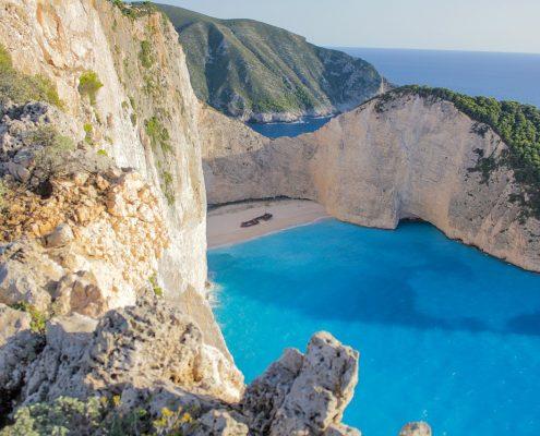 Crociera in barca a vela in Grecia zante baia
