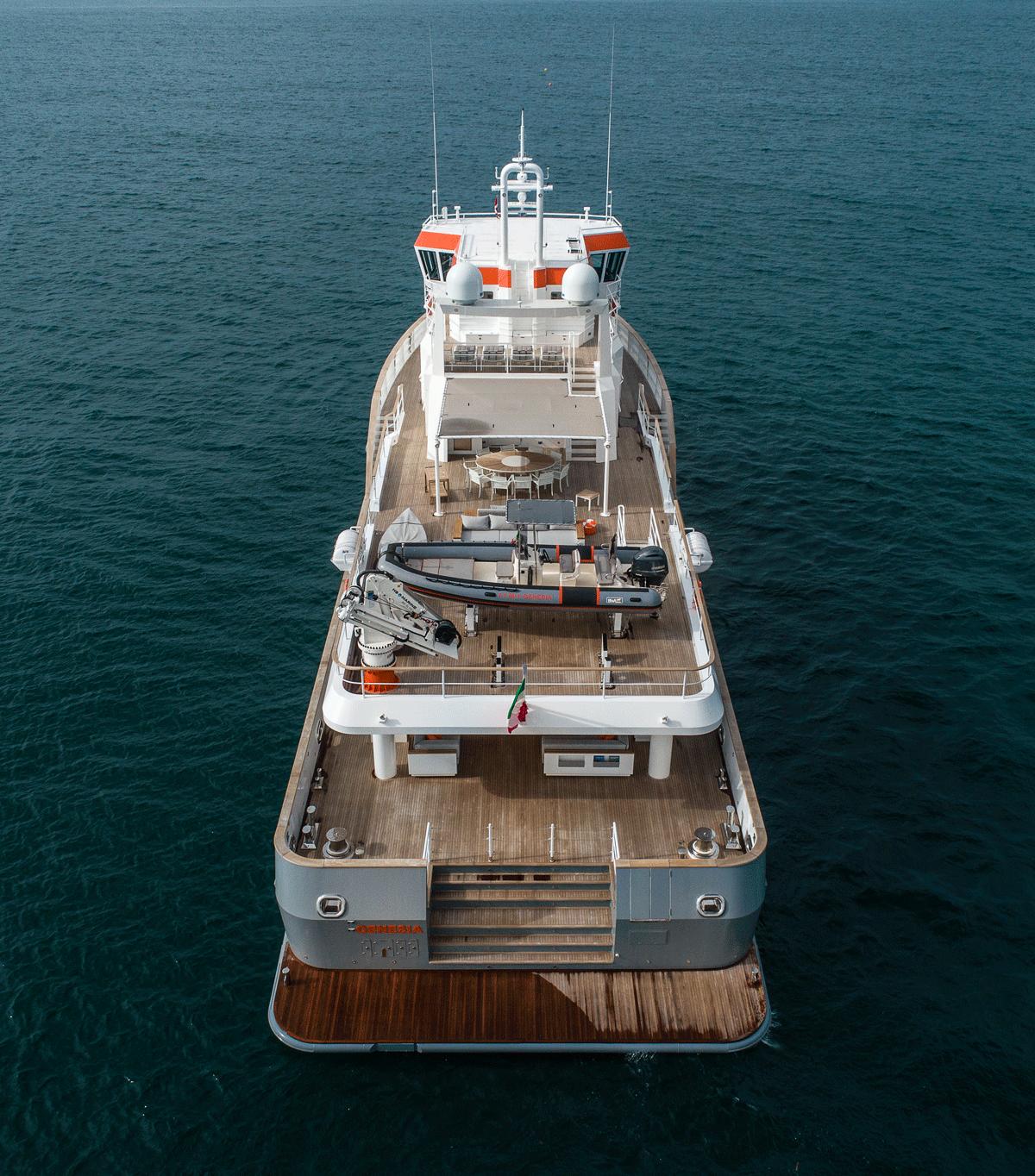 genesia yacht deck