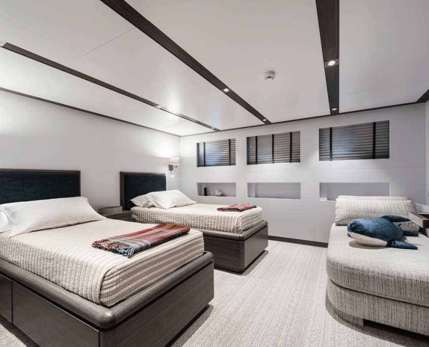 genesia yacht double guest cabins