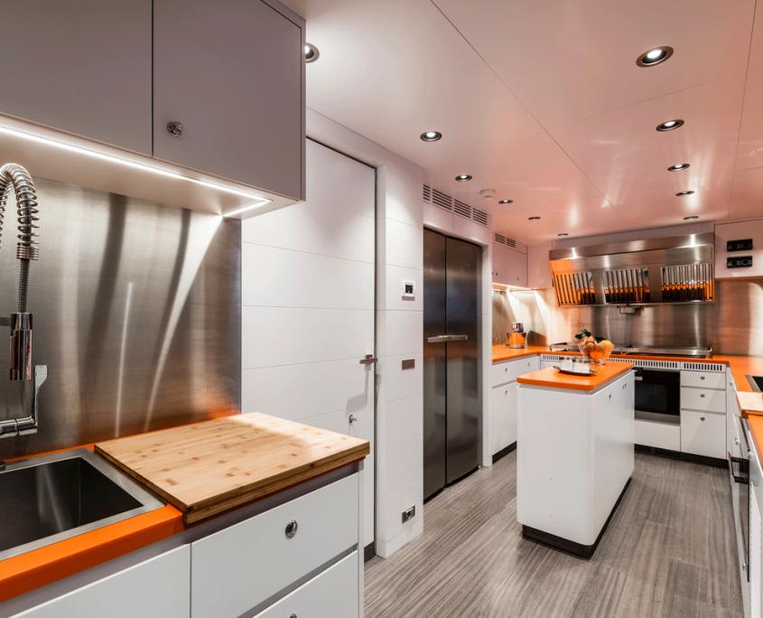 genesia yacht interior kitchen