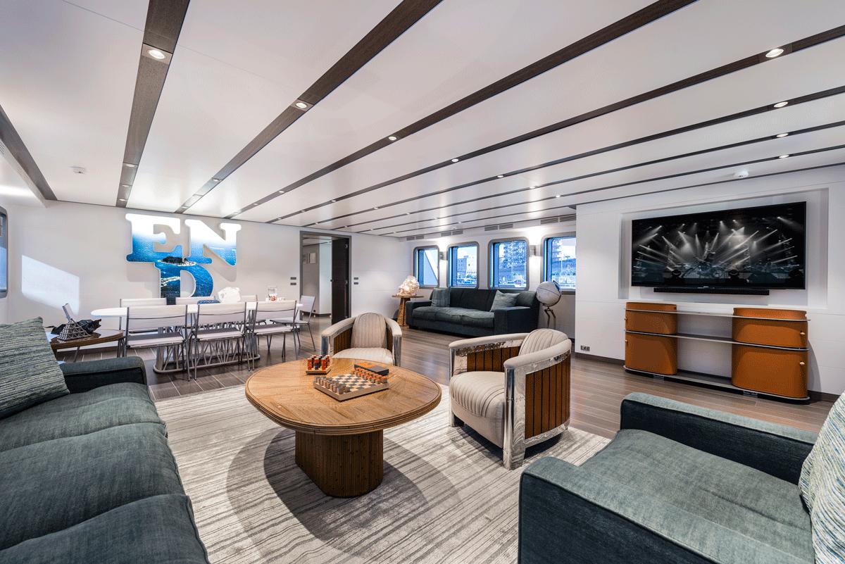 genesia yacht interior salon