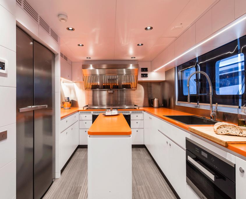 genesia yacht kitchen