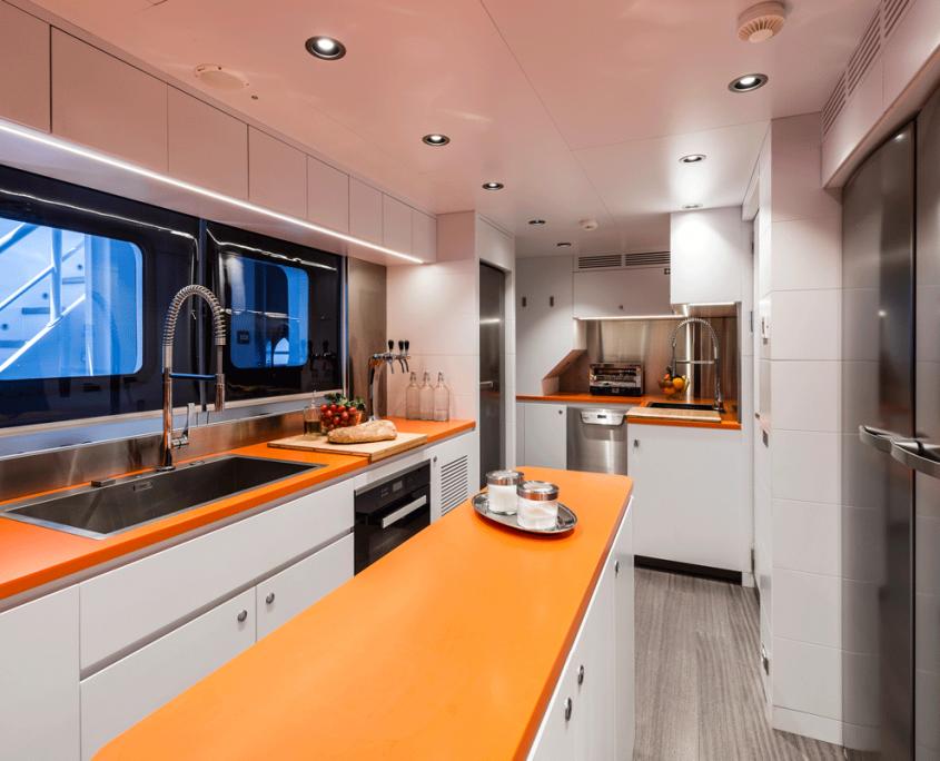 genesia yacht kitchen equinoxe
