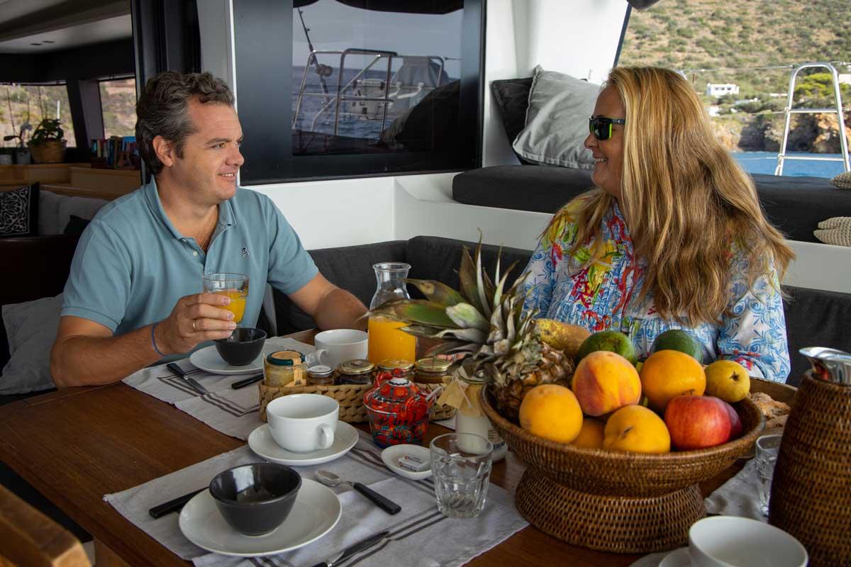 colazione catamarano
